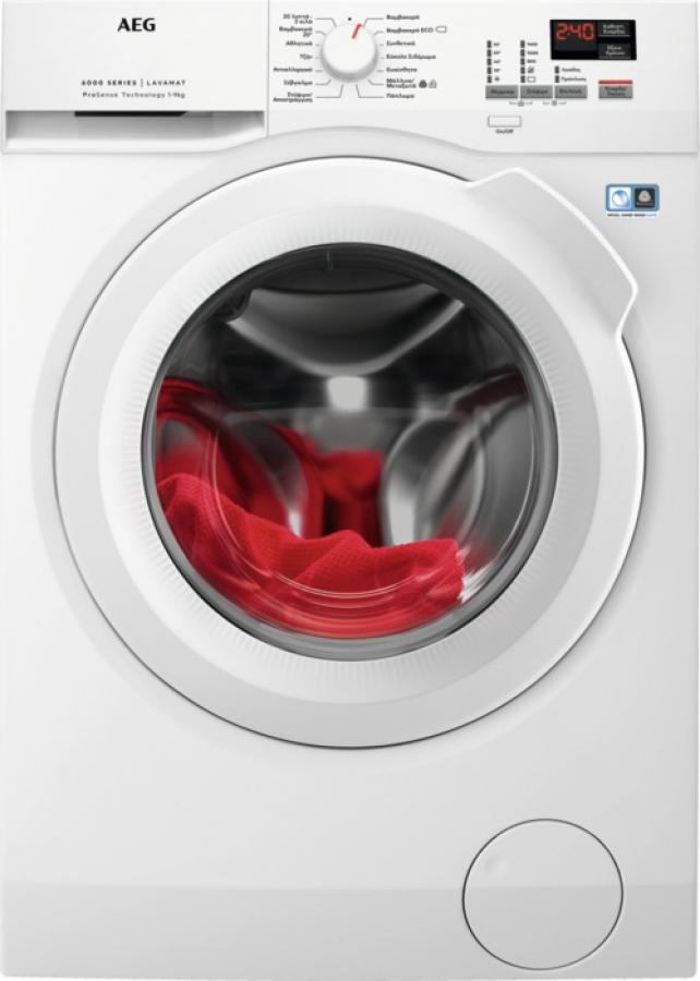 AEG L6FEK49IWG Πλυντήρια 9KG,A+++, 1400Rpm, Inverter.