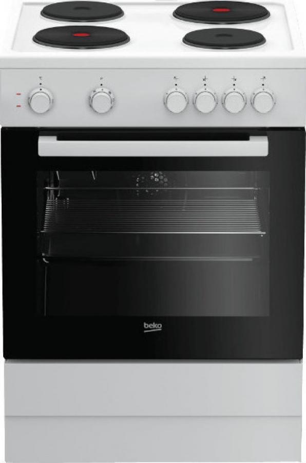 BEKO FSM 66001GW Ηλεκτρικές κουζίνες White