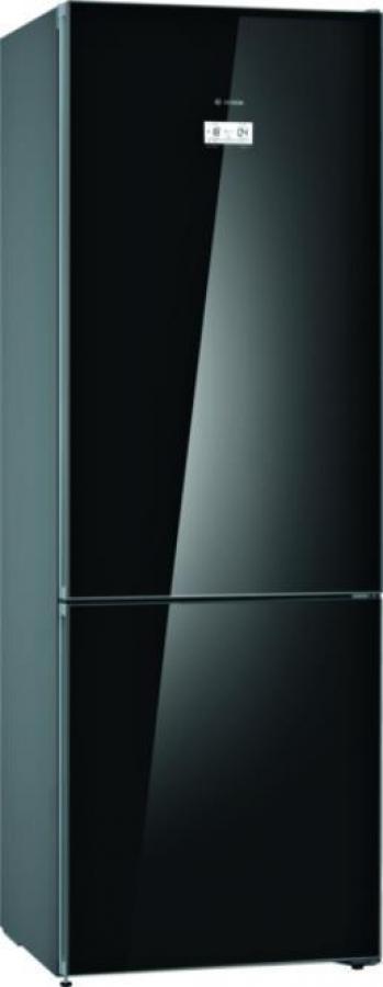 BOSCH KGN49LBEA Ψυγειο/ψύκτης Black Glass Full NoFrost 435Lt. (203 x 70 x 67cm)