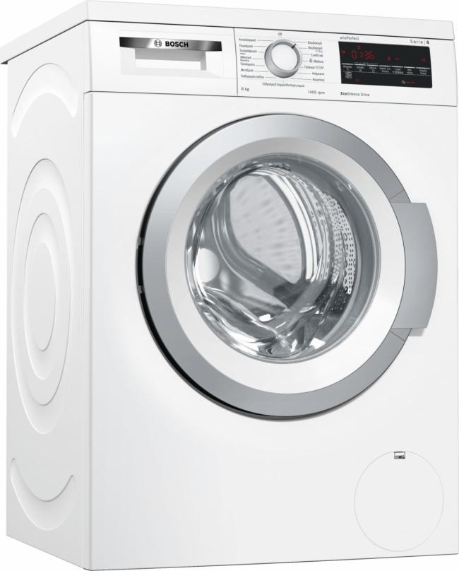 BOSCH WUQ 28468GR (BOSCH PLUS) Πλυντήρια ρούχων 8KG A+++.