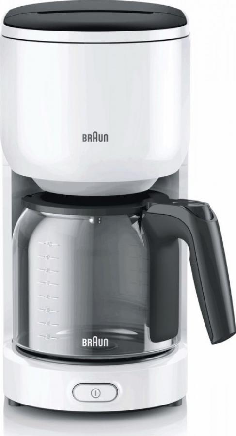 BRAUN KF-3100WH Καφετιέρα φίλτρου/Γαλλικού White