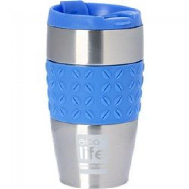 ECOLIFE 33BO4004 COFFEE THERMOS SILICON BLUE 400ML