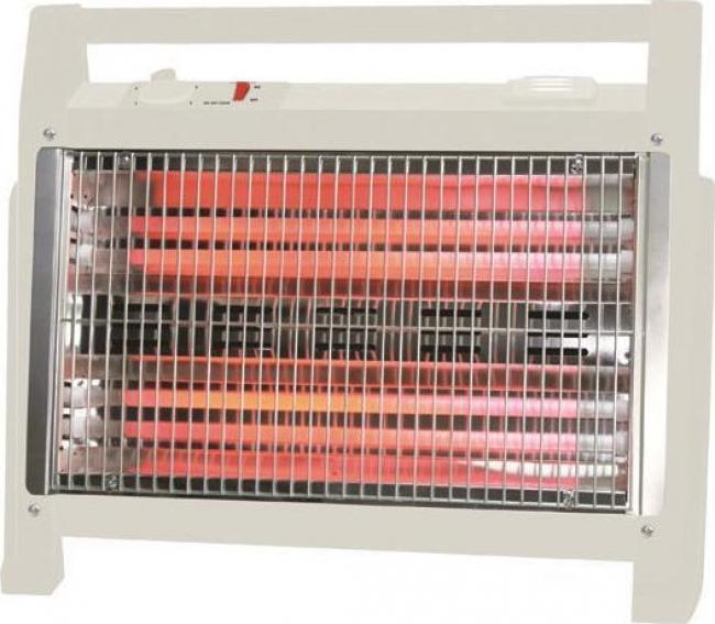 EUROLAMP 147-29165 Θερμάστρες Χαλαζία/Carbon White 1600W.