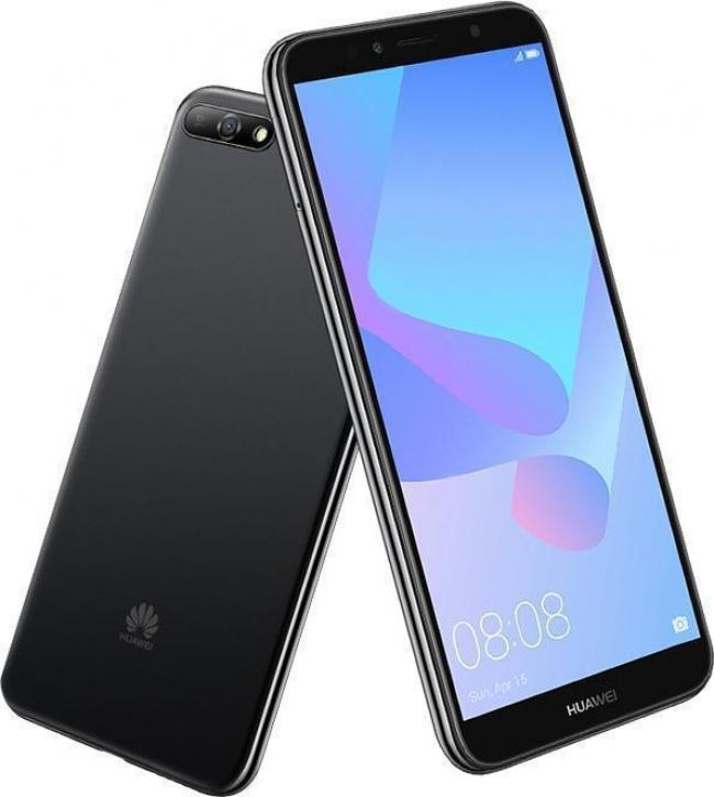 HUAWEI Y6 2018 DUAL Smartphones Black (16GB).