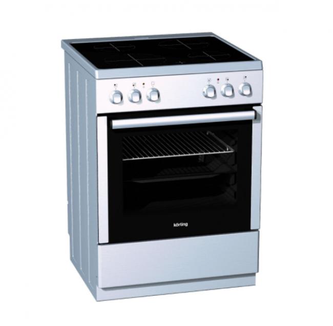 Korting KEC67120.1 AX Κεραμική Κουζίνα Inox