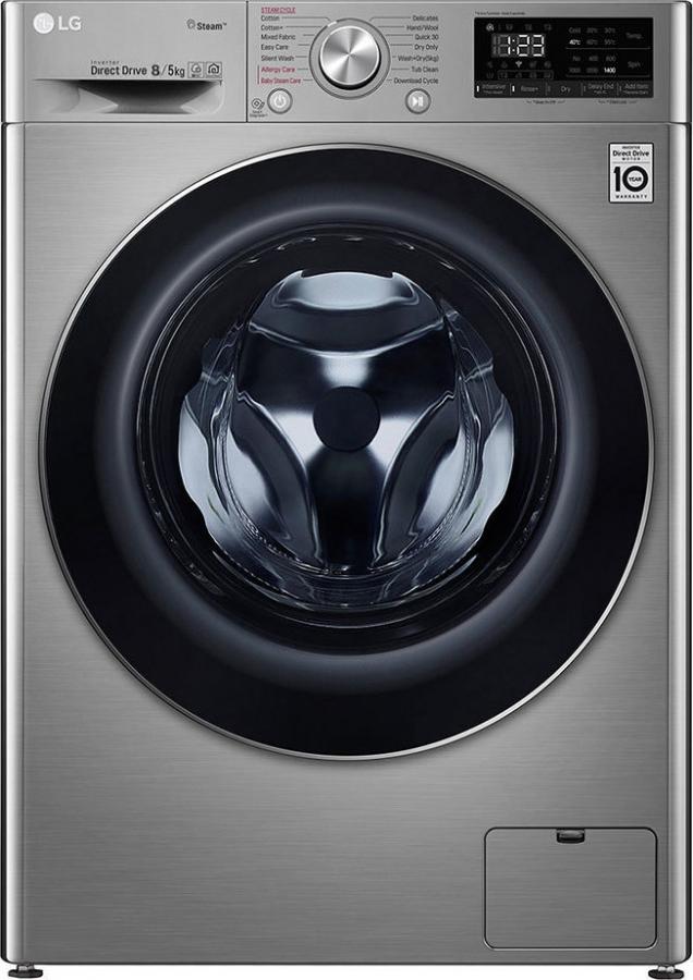 LG F4DV408S2T Πλυντήρια-Στεγνωτήρια 8KG/5KG -Stainless Silver -1400Rpm. ΑΤΜΟΥ (ΒΑΘΟΣ=56cm.)