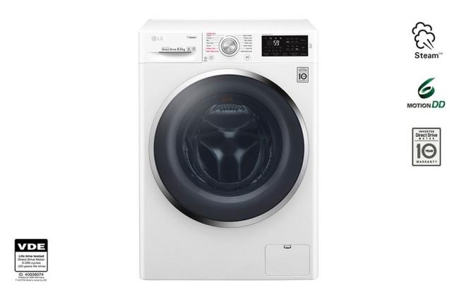 LG F4J6EY2W Πλυντήρια ρούχων 8,5Kg A+++,ΑΤΜΟΥ.
