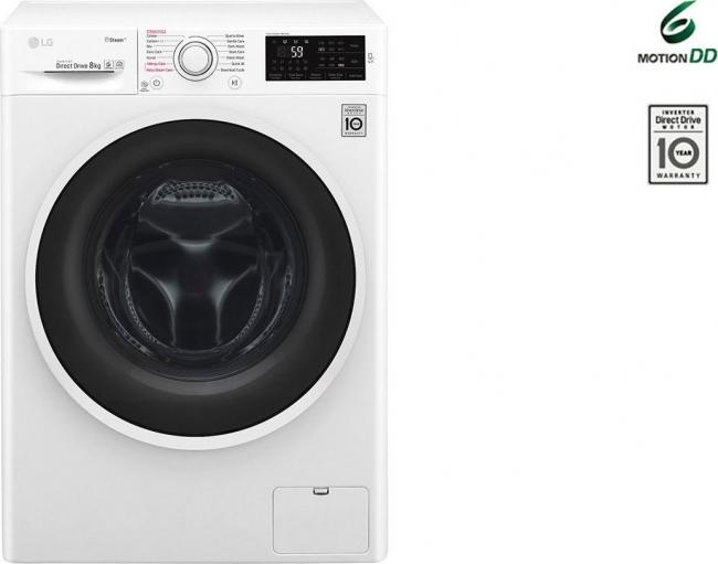 LG F4J6VN0W Πλυντήρια ρούχων 9KG , A+++ , 1400Rpm. 10 ΧΡΟΝΙΑ ΣΤΟ MOTER.