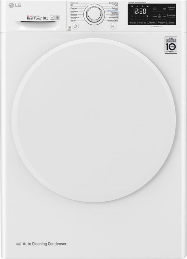 LG RC80U2AV0Q Στεγνωτήριο 8KG A+++.ΜΕ ΑΝΤΛΙΑ ΘΕΡΜΟΤΗΤΑΣ.