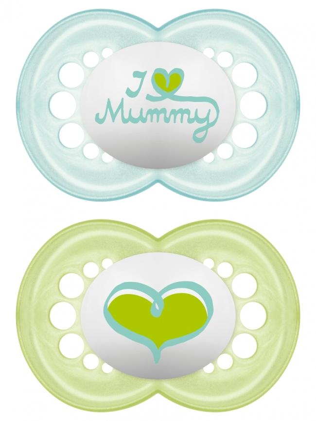 MAM I LOVE MUMMY & DADDY X2 ΠΙΠΙΛΑ ΣΙΚΟΝΗ 6+ ΜΗΝΩΝ ΜΠΛΕ -ΠΡΑΣΙΝΟ (170S)