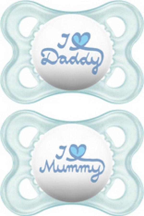 MAM I LOVE MUMMY & DADDY X2 ΠΙΠΙΛΑ ΣΙΛΙΚΟΝΗ 0-6 ΜΗΝΩΝ (115S)  ΣΙΕΛ