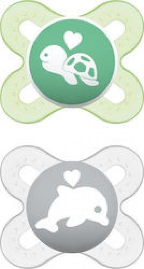 MAM START X2 ΠΙΠΙΛΑ ΣΙΛΙΚΟΝΗ 0-2 ΜΗΝΩΝ Πράσινο - Λευκό