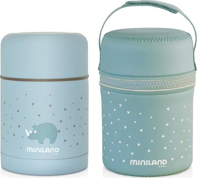 MINILAND SILKY FOOD THERMOS 600ML ΜΠΛΕ (ML89221)