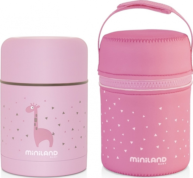 MINILAND SILKY FOOD THERMOS ΡΟΖ (ML89222)