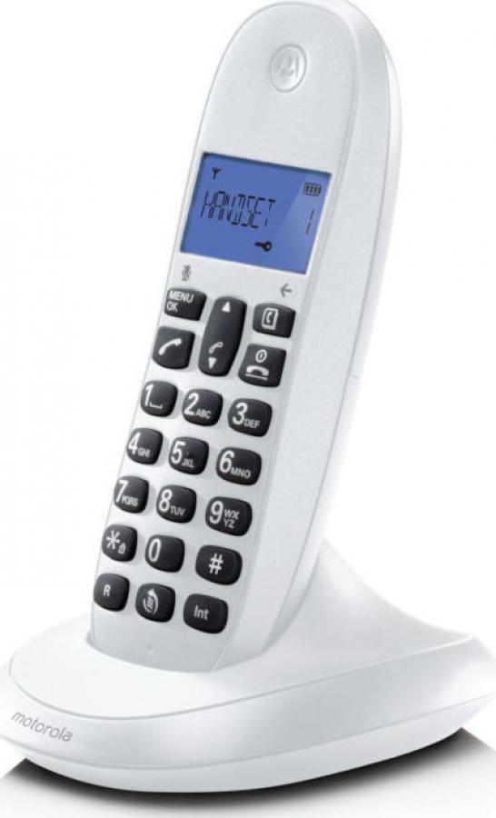 MOTOROLA C1001LB Ασύρματα Τηλέφωνα White