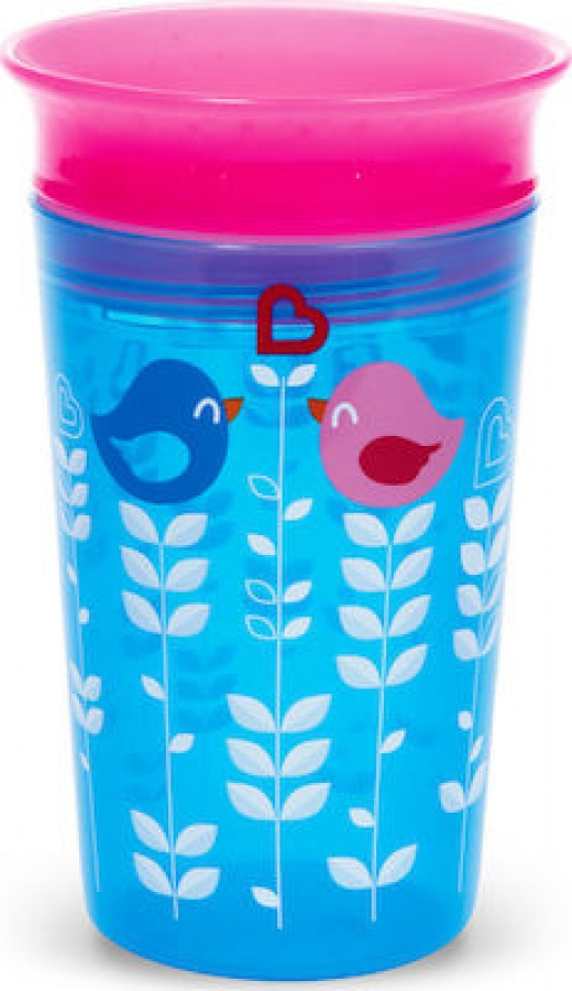 MUNCHKIN 11134 MIRACLE DECO SIPPY -BLUE BIRD
