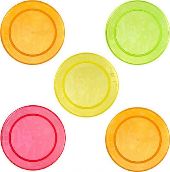 MUNCHKIN 11390 5 MULTI -COROURED FEEDING PLATES