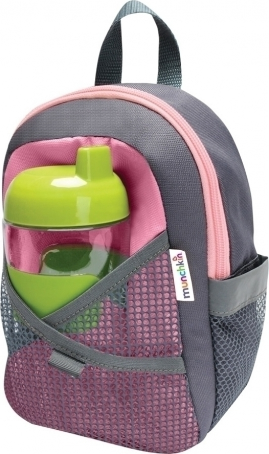 MUNCHKIN BY MY SIDE SAFETY HARNESS BACKPACK PINK 12048
