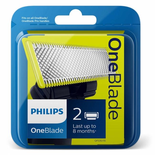 OneBlade QP220/55 Ανταλλακτική Λεπίδα (Συμπεριλαμβάνει 2 τεμάχια)