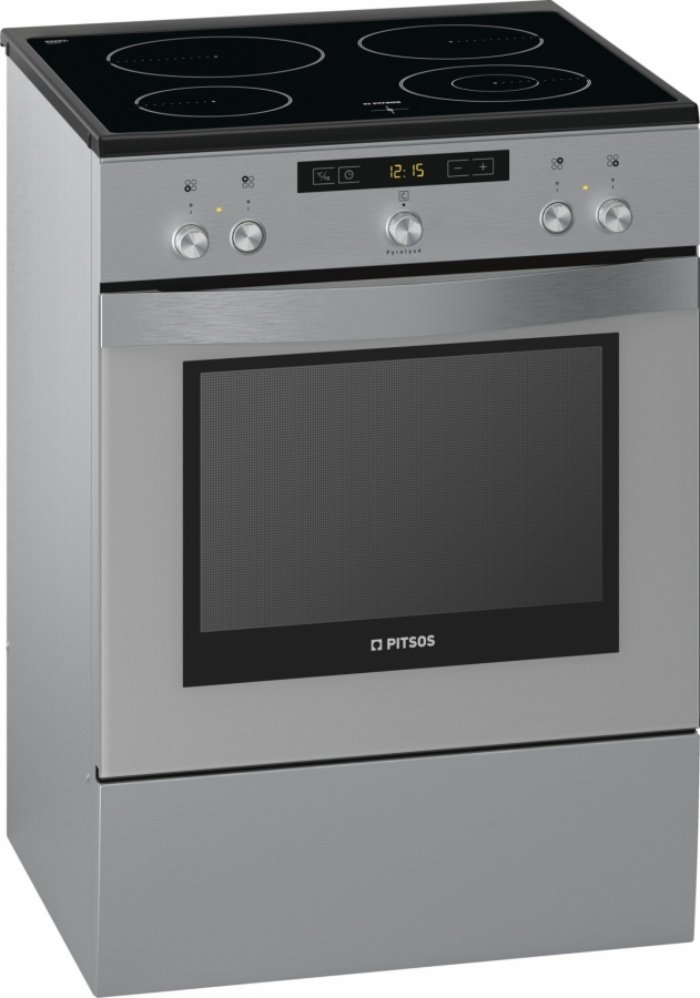 PHCB595N50 Κεραμική Κουζίνα Με Πυρόλυση Inox