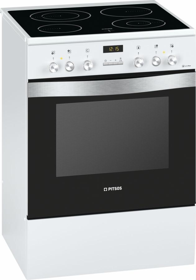 PHCB855M21 Κεραμική Κουζίνα Λευκή