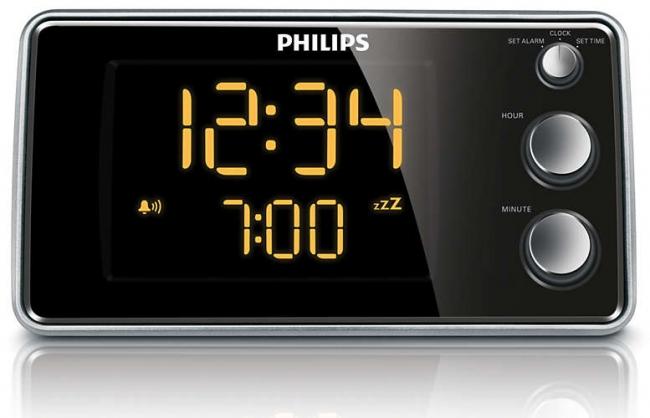 PHILIPS AJ3551 Ραδιο-Ρολόγια Black