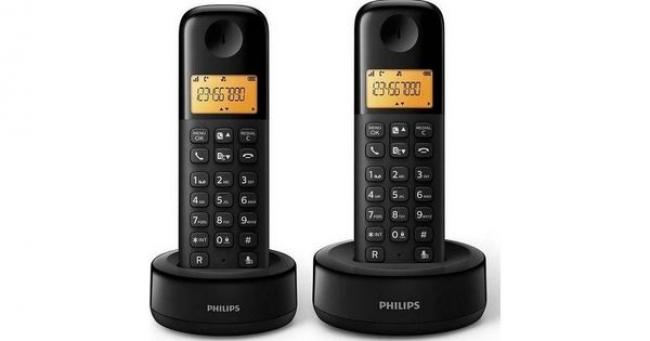 PHILIPS D1302B Ασύρματα Τηλέφωνα Black