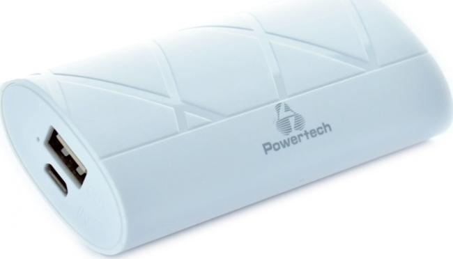 POWERTECH PT-587 3000mAh Powerbank  WHITE