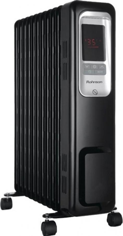 ROHNSON R-2311-20 Καλοριφέρ λαδιού Black 2300W -11Φέτες - Θερμοστάτης. Χρονοδιακόπτης.