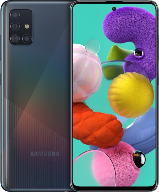 SAMSUNG GALAXY A51 DUAL SIM (SM-A515) Smartphones Μαύρο (4GB/128GB).