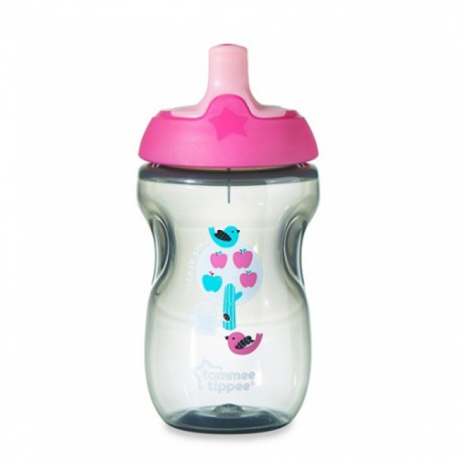TOMMEE TIPPEE SPORTS BOTTLE 300ml ΡΟΖ-ΓΚΡΙ (44702097)