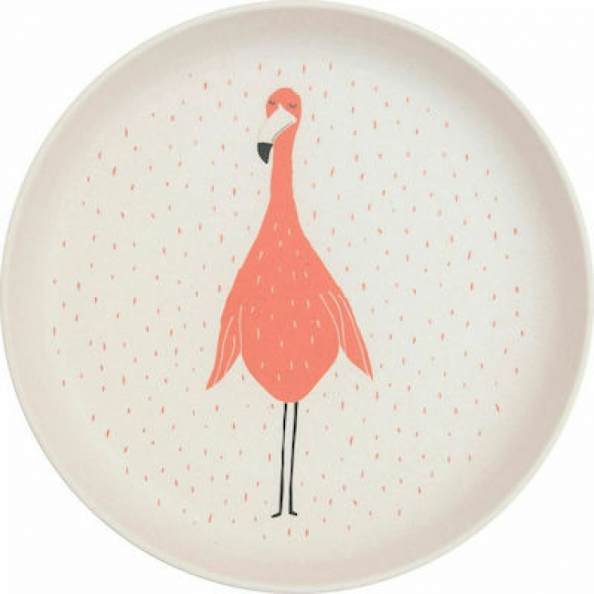 TRIXIE PLATE MRS. FLAMINGO 77312