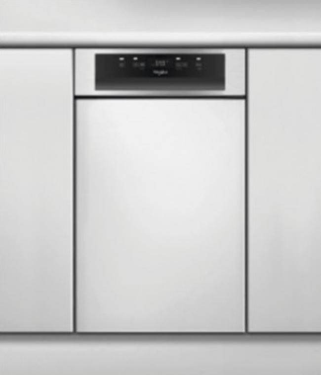 WHIRLPOOL WSBC3M17X Πλυντ. πιάτων Εντοιχιζόμενο Inox. 45cm. A+.